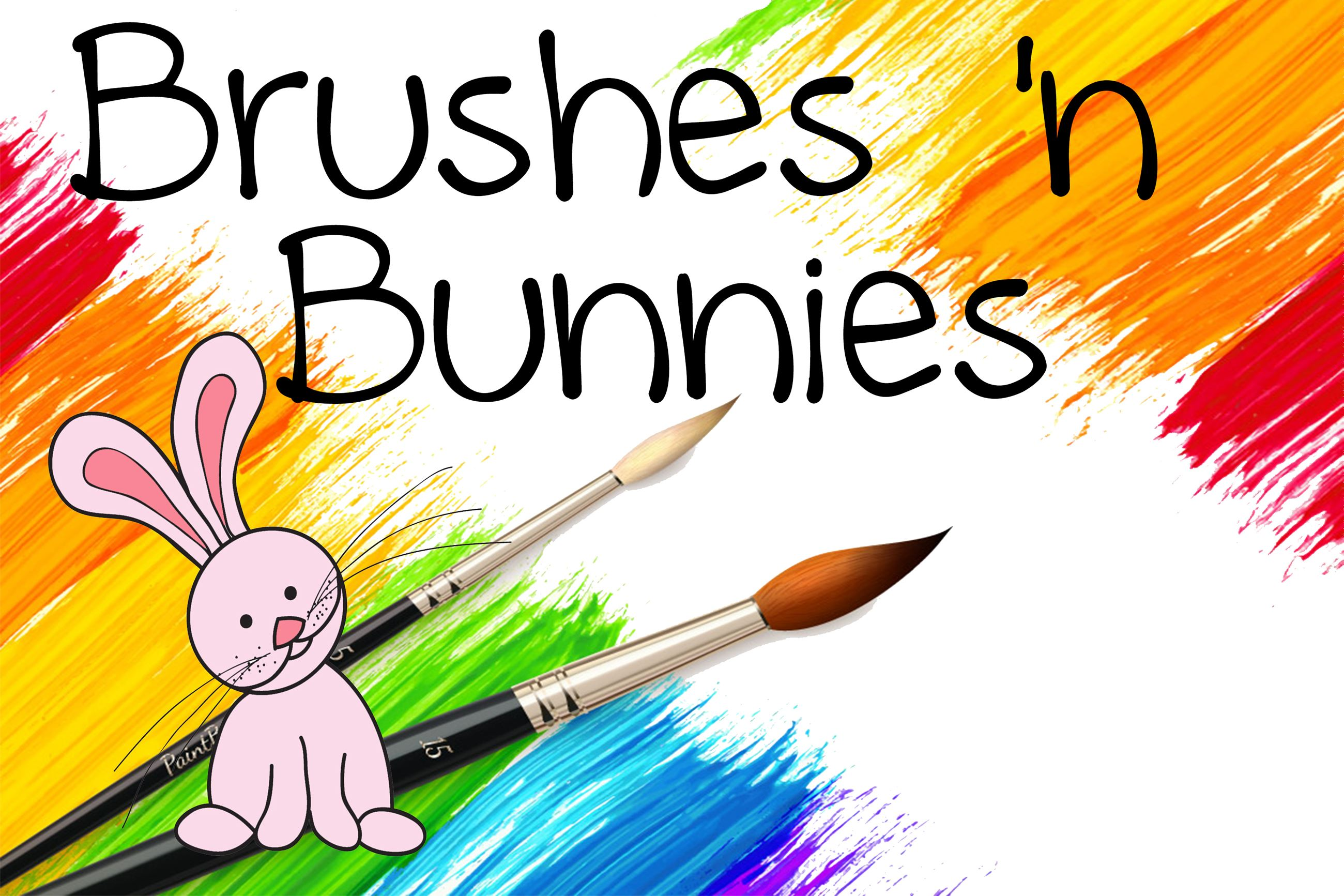 Brushes and Bunnies Logo