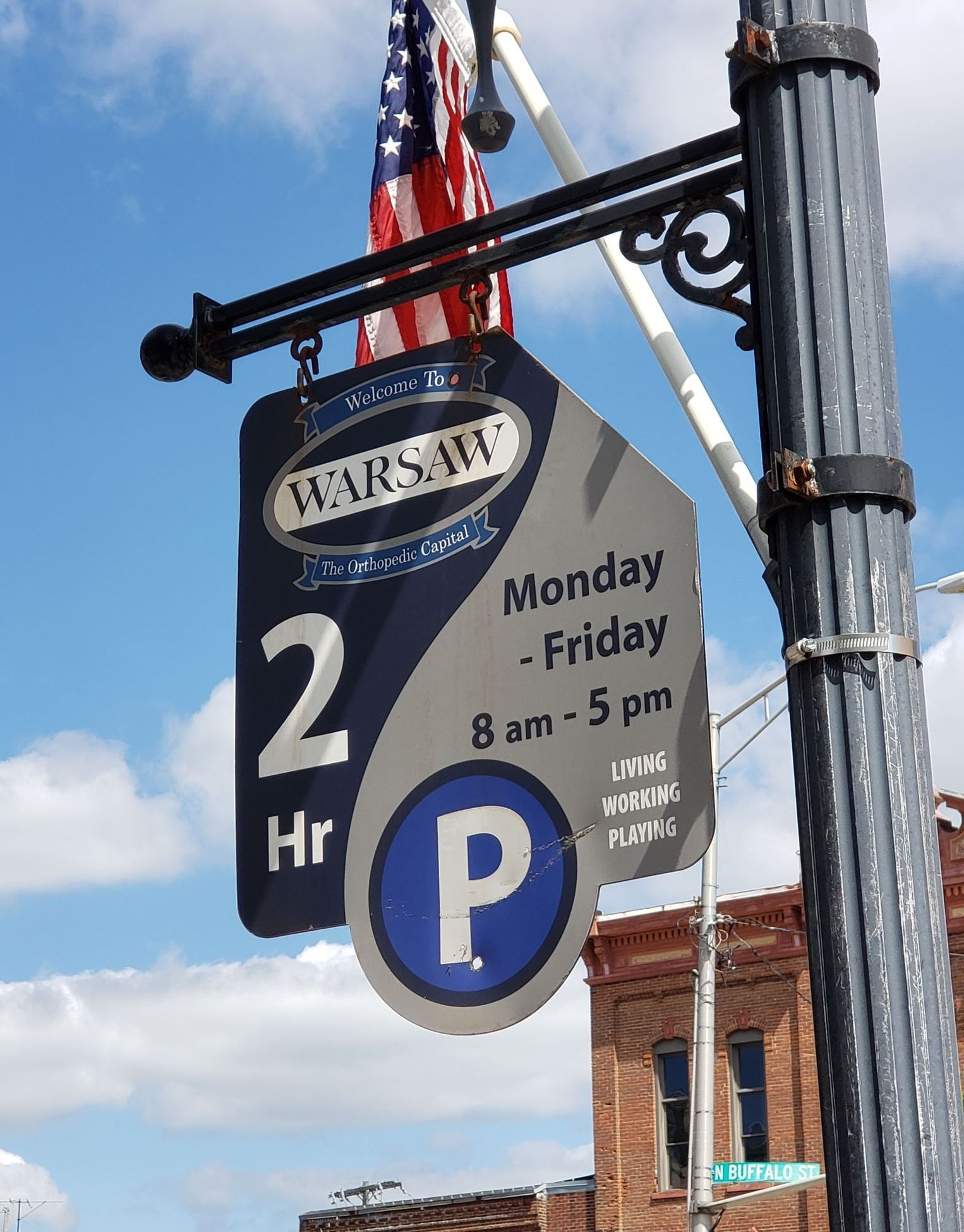2019 Downtown Parking Sign