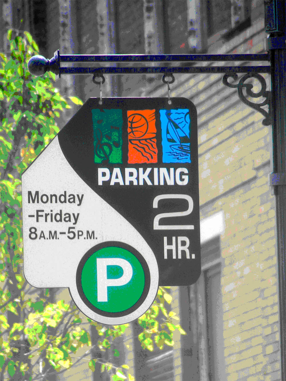 Downtown Parking Sign